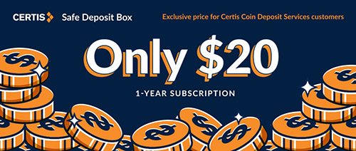 Certis Safe Deposit Box - Only $20 for 1-year subscription
