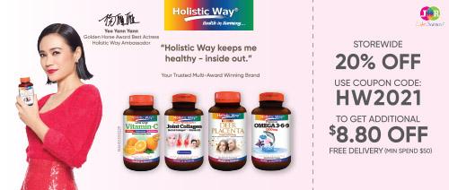 Holistic Way - 20% OFF storewide @ www.jrlifesciences.com + $8.80 code