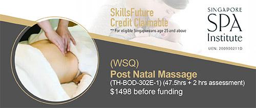 Singapore Spa Institute - WSQ Provide Post Natal Massage