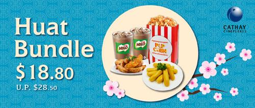 Cathay Cineplexes - $18.80 Huat Bundle (U.P. $28.80)
