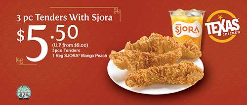 Texas Chicken - 3 Pc Tenders with SJORA®