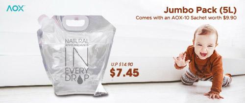 AOX - 50% off AOX Jumbo Bag & AOX10 Sachet