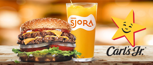 Carl's Jr. - Free SJORA® Mango Peach Drink, with any purchase