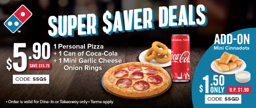Domino's Pizza - $5.90 Personal Pizza Set (usual: $15.75)