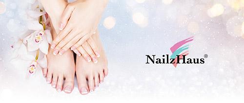 Nailz Haus - Classic Gel Manicure @ $18 or Classic Manicure + Pedicure @ $38
