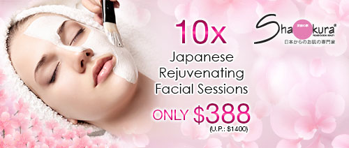 Shakura Pigmentation Beauty - 10 Japanese Rejuvenating Facials + FREE Skincare Set for $388