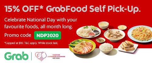 GrabFood - 15% OFF Self Pick-Up orders