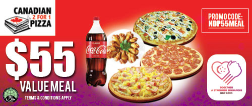 Canadian 2 for 1 Pizza - $55 Value Meal