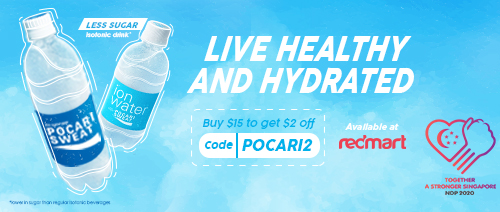 POCARI SWEAT - Get $2 off POCARI SWEAT or ION Water on RedMart