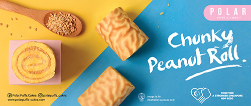 Polar Puffs & Cakes - 3 Chunky Peanut Rolls for $5.50