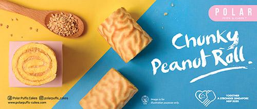 Polar Puffs & Cakes - 3 Chunky Peanut Rolls for $5.50