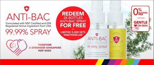 novita - Redeem 2 bottles of novita Anti-Bac Spray for FREE