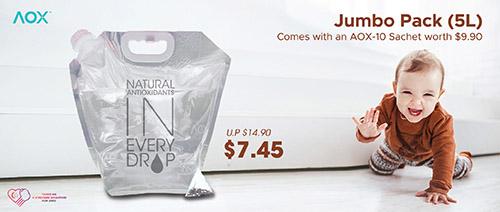 AOX - 50% off AOX 5L Jumbo Pack!