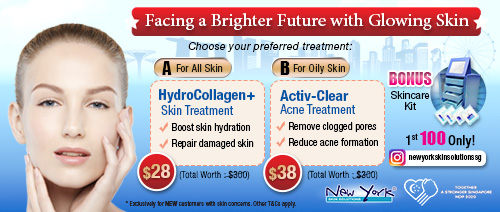 New York Skin Solutions - Enjoy 1 HydroCollagen+ Facial at $28 or 1 Activ-Clear Acne Treatment at $38