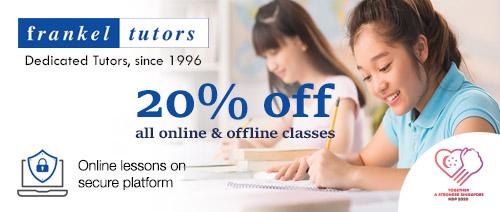 Frankel Tutors - 20% off all offline and online classes