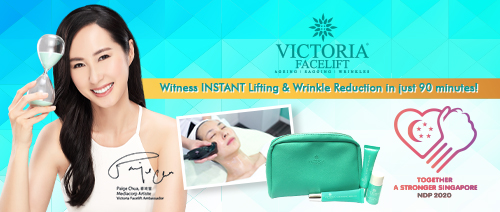 Victoria Facelift - 90min Victoria Power-Lift Facial + 3pc V-Lift Product Set ONLY $48nett