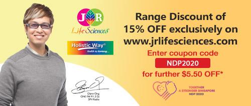 JR Life Sciences - Range Discount of 15% OFF exclusively on www.jrlifesciences.com