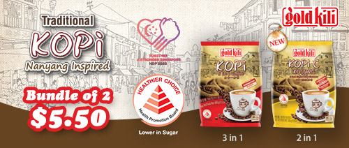 Gold Kili - Traditional Kopi Series at Bundle of 2 for $5.50