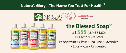 Nature's Glory - The Blessed Soap® (4 x 12oz or 2 x 32oz) at $55 (U.P $61.60)