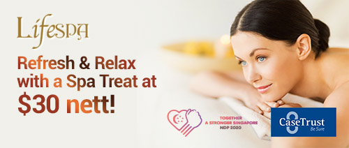 Lifespa - Refresh & Relax with a Spa Treat at $30 nett