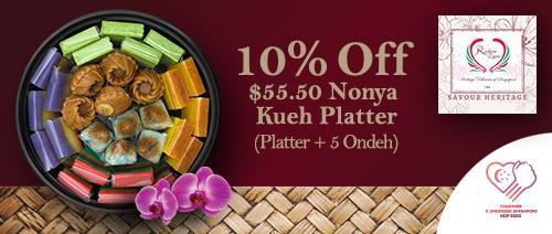 Rainbow Lapis - 10% off Nonya Kueh Platter