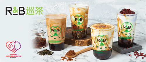 R&B Tea - Get a free topping for your drink!