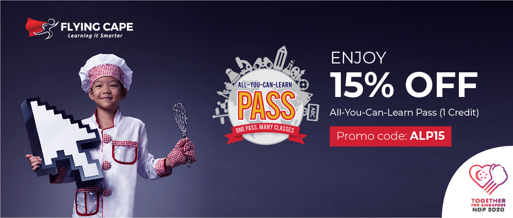 Flying Cape - Get 15% off All-You-Can-Learn Pass 1 Credit (U.P: $25)