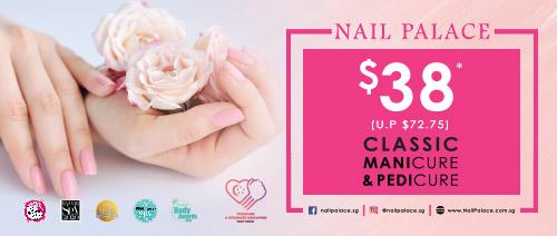 Nail Palace - $38 Classic Manicure + Classic Pedicure (UP: $72.75)