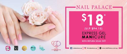 Nail Palace - $18 Express Gel Manicure with Return Soak Off (U.P. $94.15)