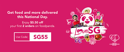 foodpanda - Get $5.50 off your first 2 orders on foodpanda. Use code: SG55