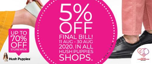 Hush Puppies Singapore - 5% off Final Bill