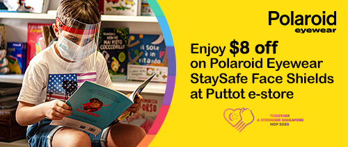 Puttot Singapore - Enjoy $8 off on Polaroid Eyewear StaySafe Face Shields at Puttot e-store