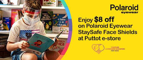 Puttot Singapore - Enjoy $8 off on Polaroid Eyewear StaySafe Face Shields at Puttot e-store