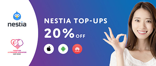 Nestia - Enjoy 20% off when you top up your mobile